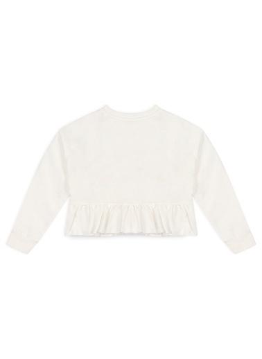 Panço Kız Çocuk Sweatshirt 2111GK08012 Beyaz